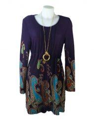 *Purple pompom tunic front