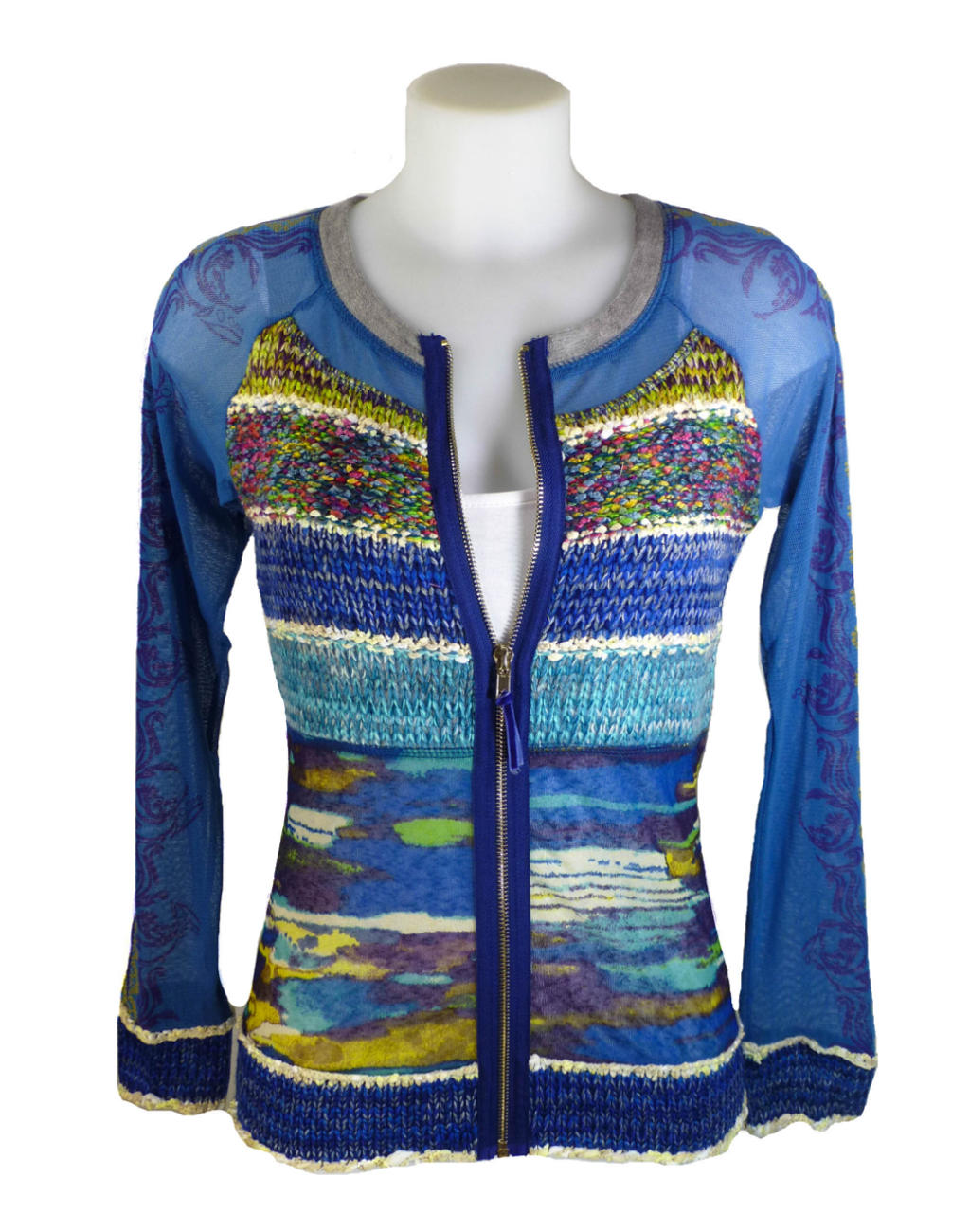 Lulu H Royal Blue French Style Top Fashion Fix Online