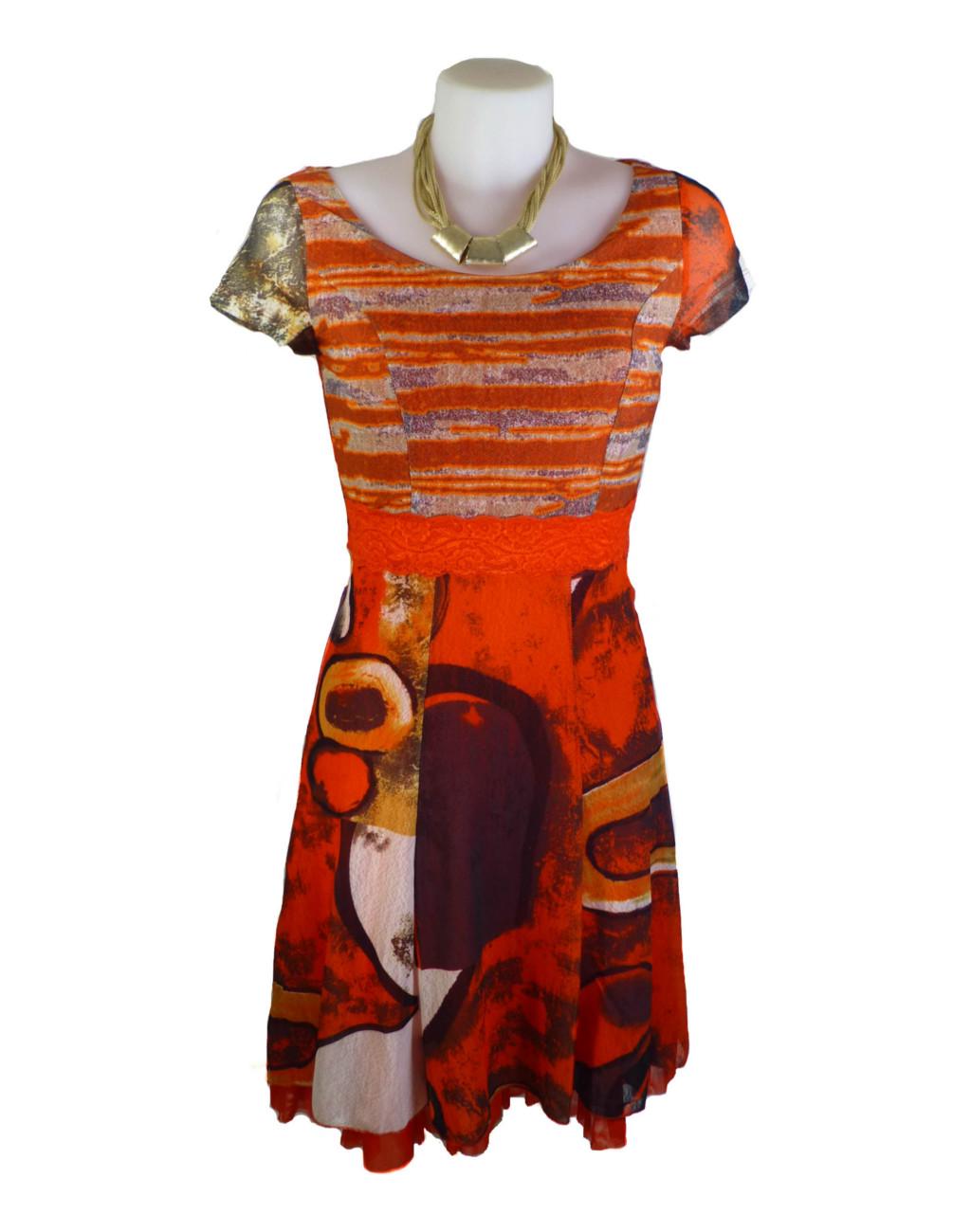 lulu h french style orange dress fashion fix online
