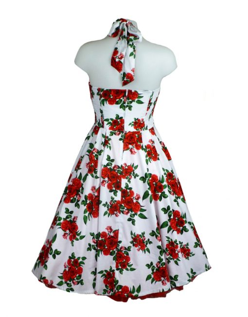 15c722a0f2f2 Hell Bunny Cannes White 50's Style Retro Dress