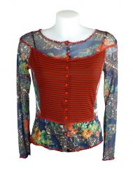 Lulu H Red French Top
