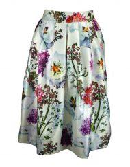 Shihka London Cream Floral Skirt Front