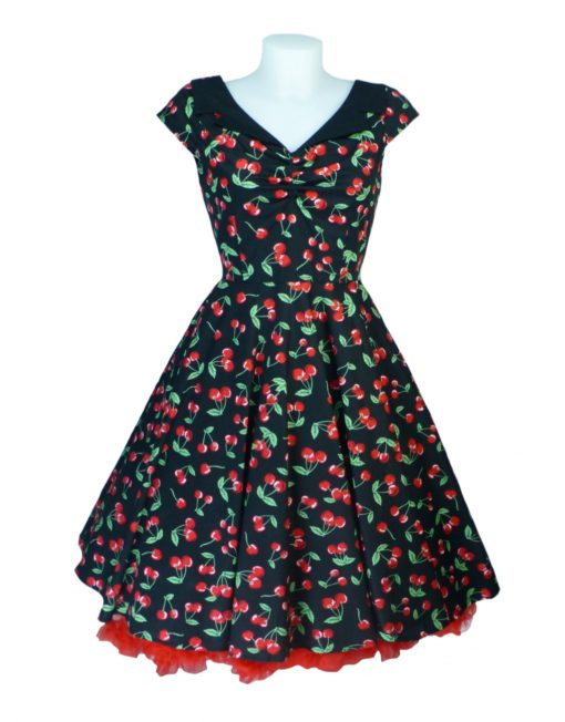 3836d0e7811 Hell Bunny Cherry Pop 50 s Retro 50 s Swing Dress