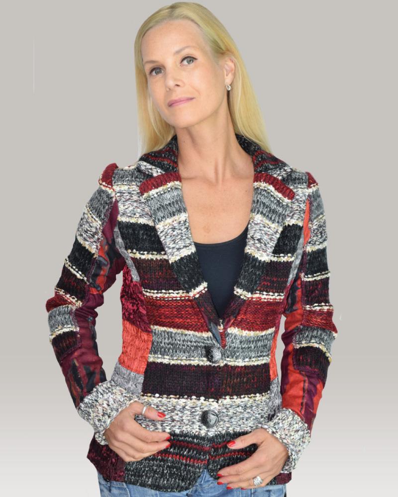 lulu-h burgundy french style jacket