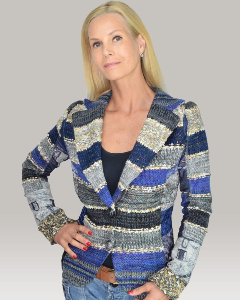 lulu-h royal blue french style jacket
