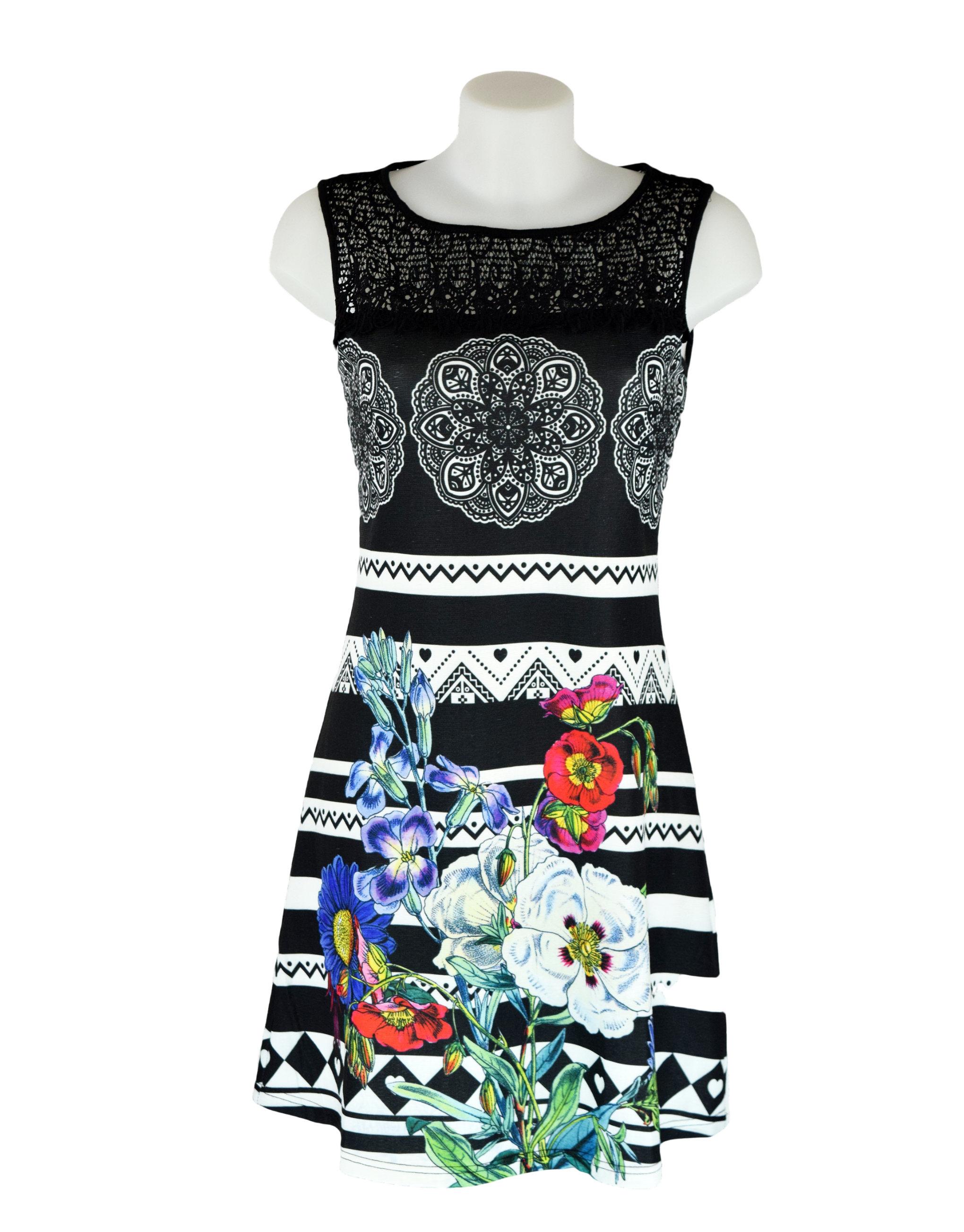 101 idees black white stripey floral dress fashion fix. Black Bedroom Furniture Sets. Home Design Ideas