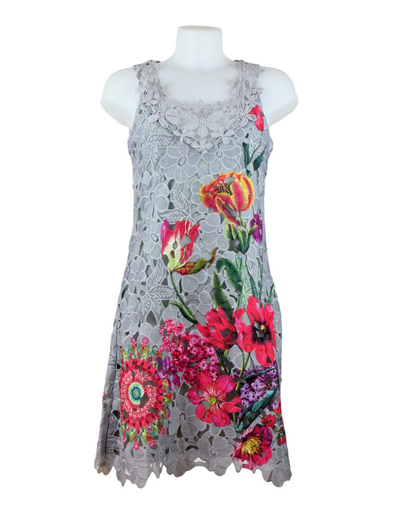 101 idees grey lace pink floral dress fashion fix online. Black Bedroom Furniture Sets. Home Design Ideas