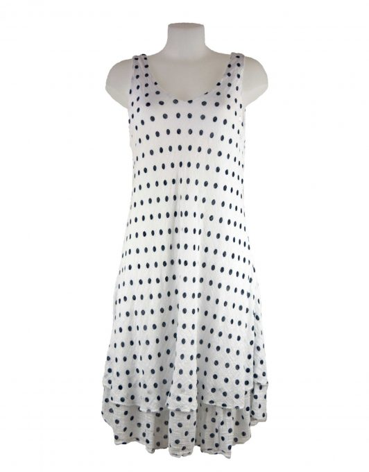 Ladies One Size Polka Dot Giuliana Italian Style Dress