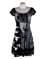 LULU-H Black Gypsy French Style Dress