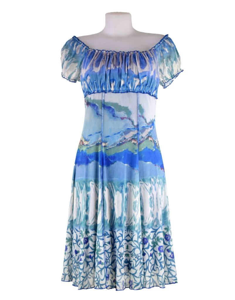 Lulu H Blue Gypsy Style Dress Fashion Fix Online