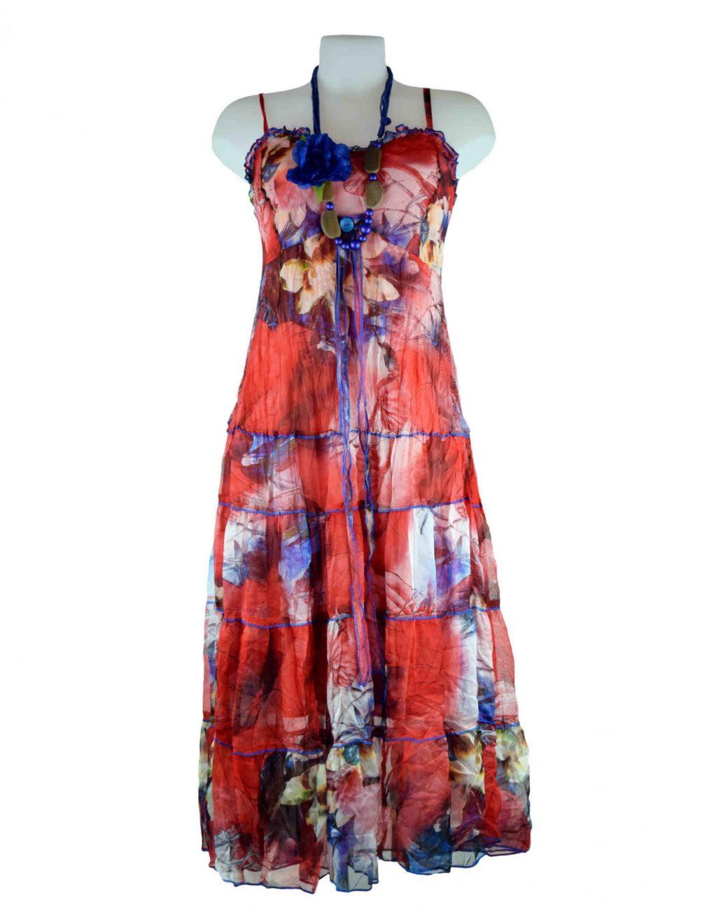 Sensations Pour Elle Red Maxi Dress