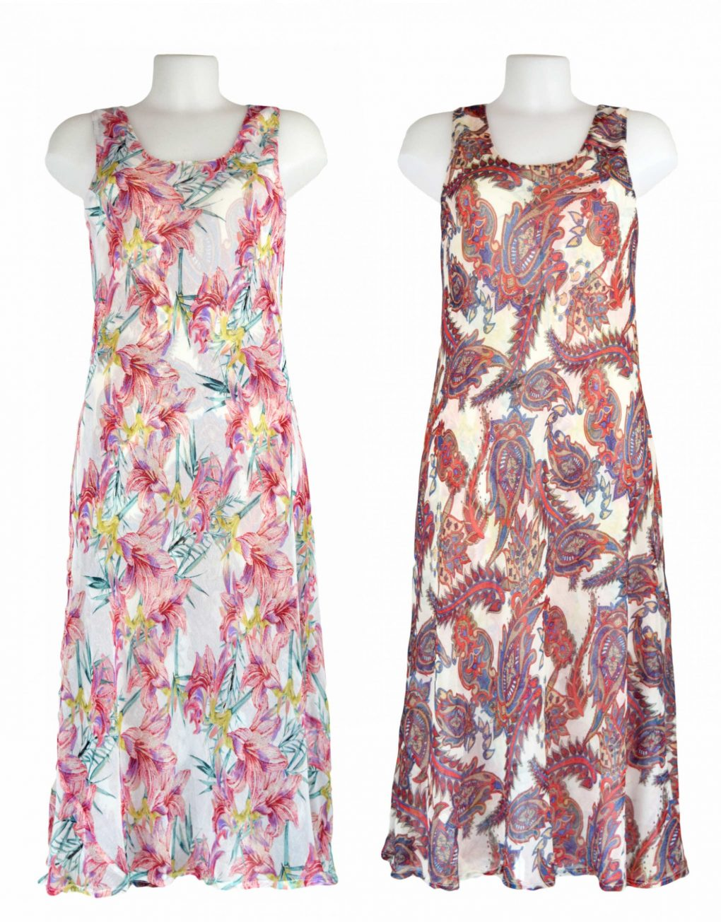 Paramour Reversible 2 in 1 Off White & Pink Floral Dress1