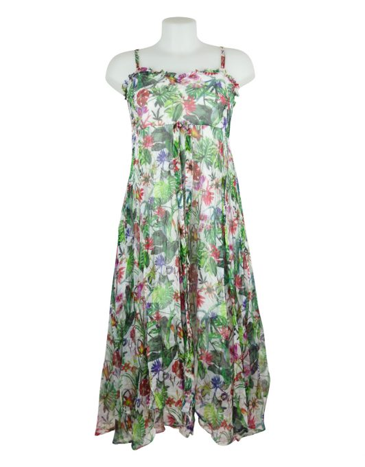sensations-pour-elle-floral-green-dress