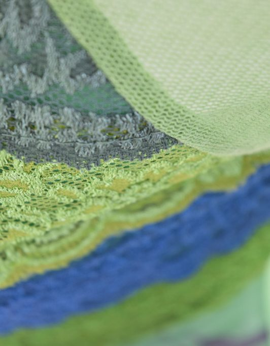 LULU H green fabric