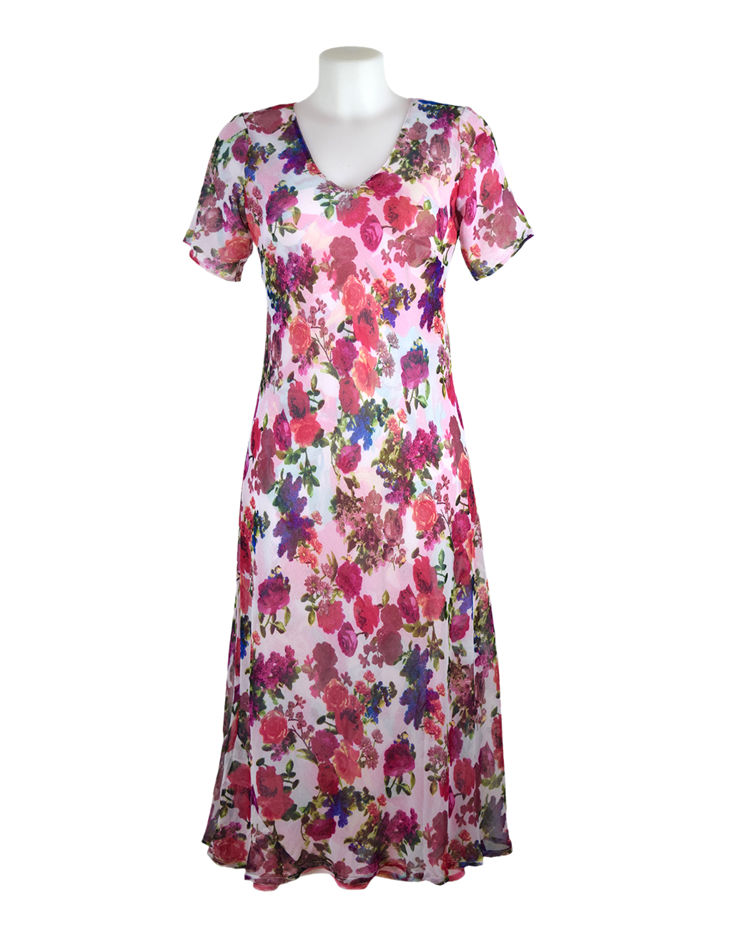 Paramour Reversible 2 in 1 Short Sleeve Dress Pink/Pink