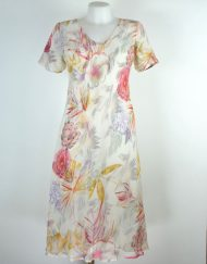 paramour peach /white 2in1 dress