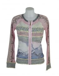 LULU H Jacket knitted Pink/Blue