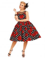 elizabeth_vintage_dress_black_rose_polka_dot