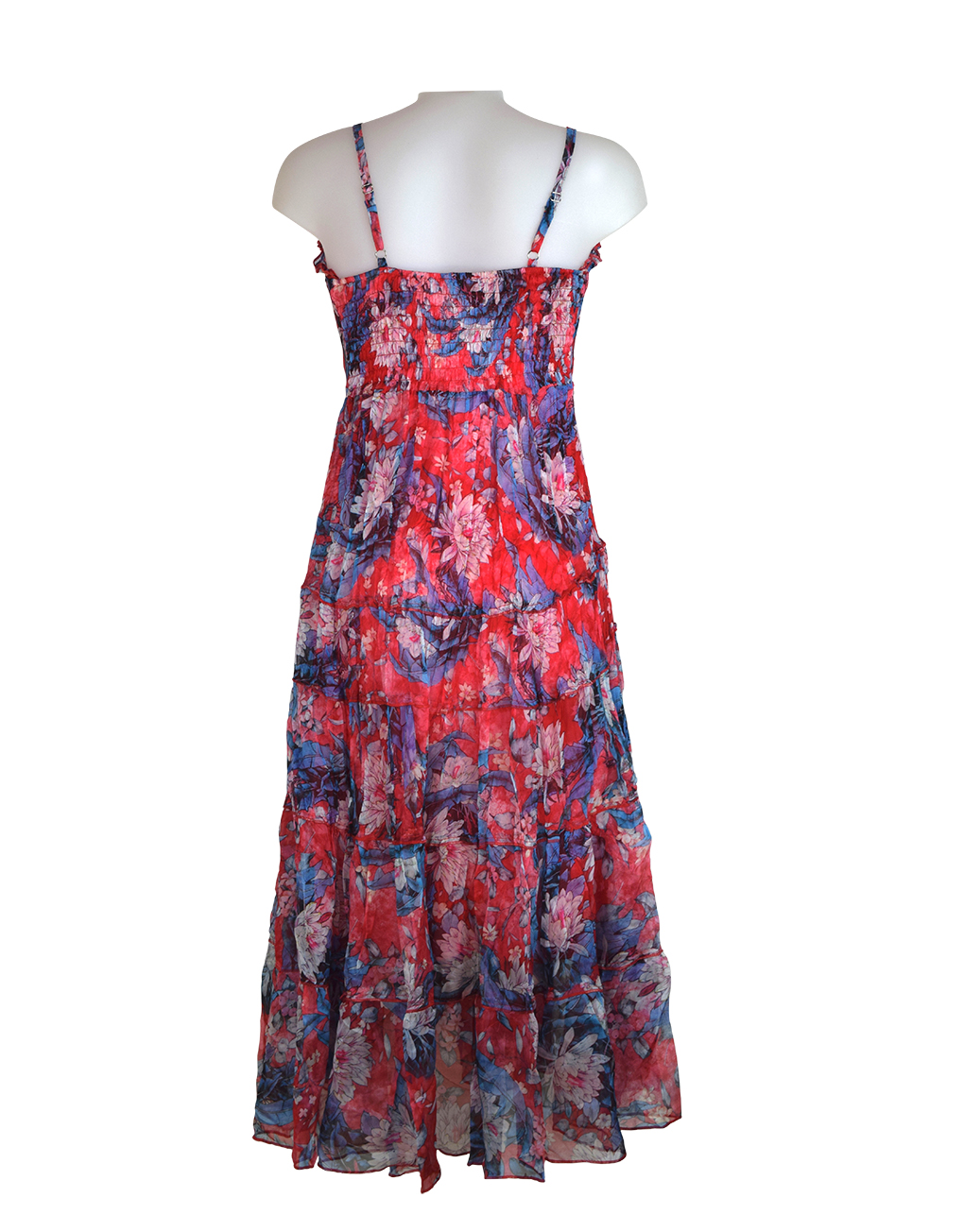 Sensations-pour-elle-Red-Blue-maxi-dress 1