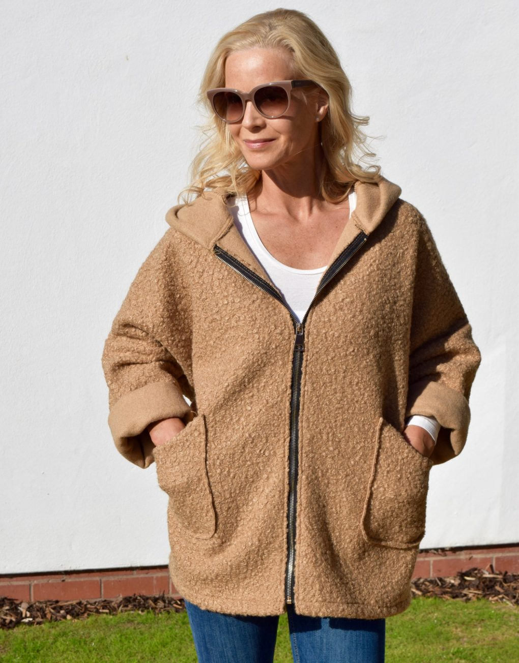 Italian jacket camel