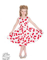 White Bombshell Cherry Dress H&R 4085