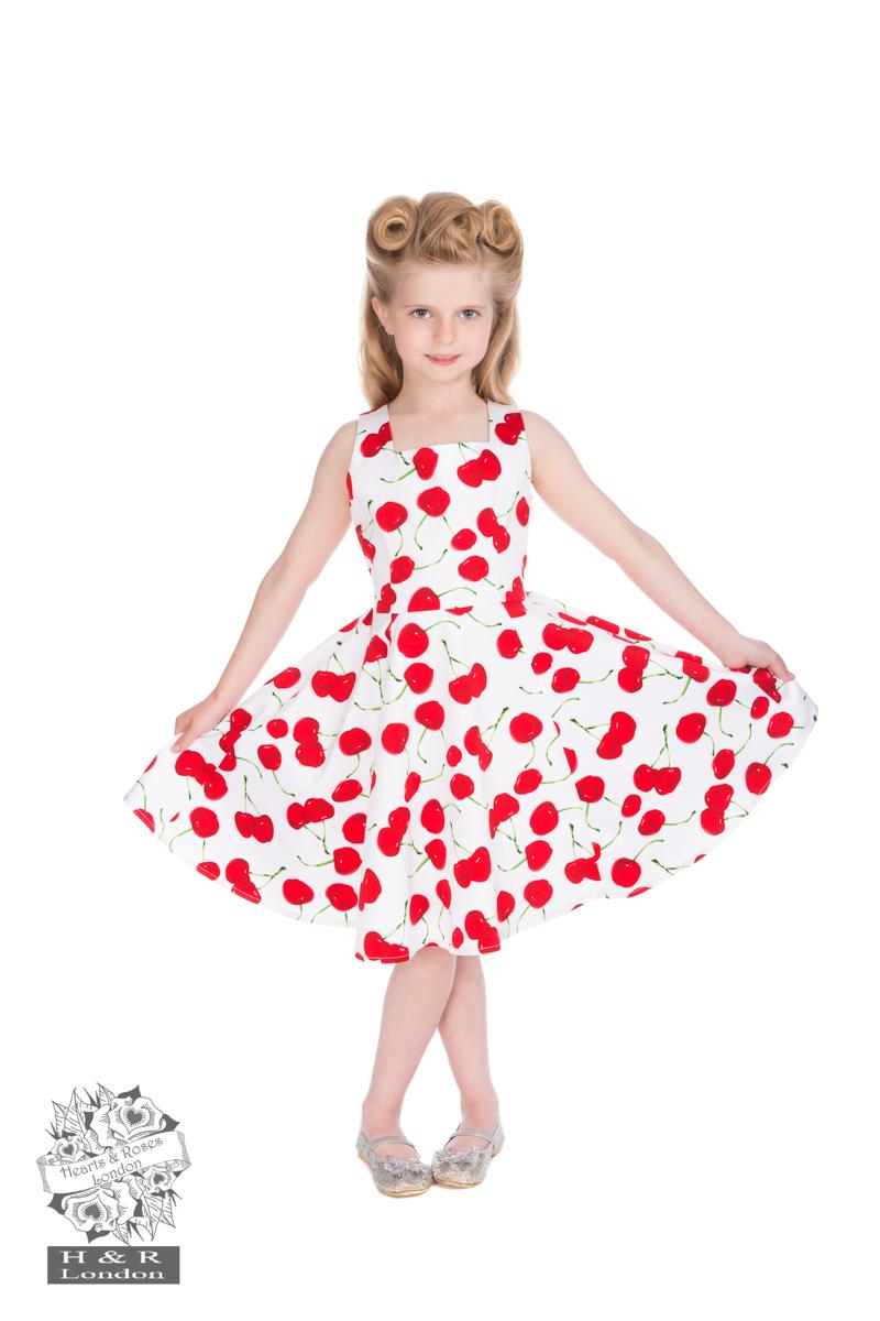White Bombshell Cherry Dress H&R 4085