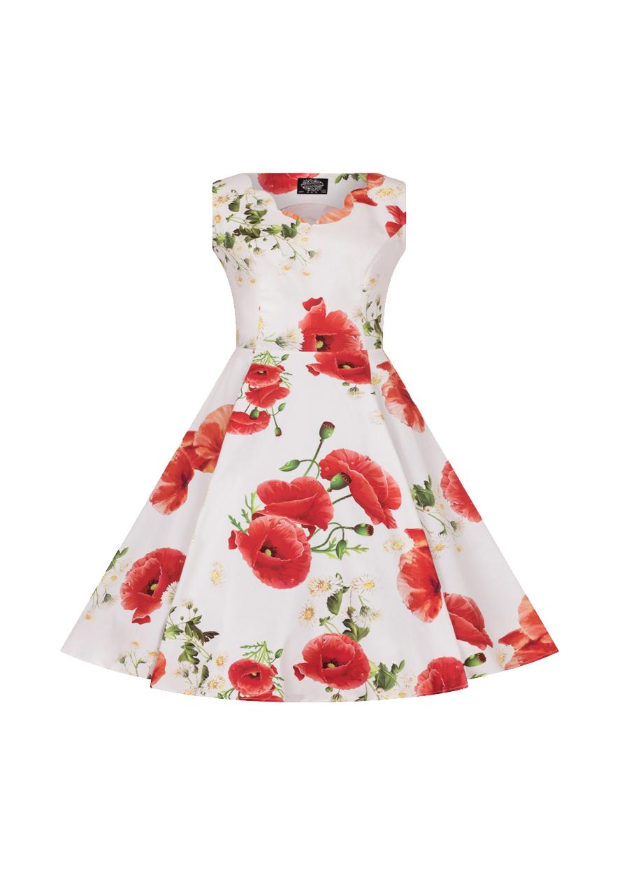 H&R Opium Poppy Floral Kids Dress