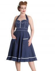 Hell Bunny -vanity-dress-blue