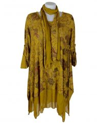 Italian purplish mustard tunic 2