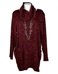 Italian Maroon-tunic-with-colour-snood
