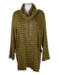 Italian Mustard-tunic-with-colour-cowl-neck