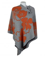 Cashmere Shawl Grey Orange