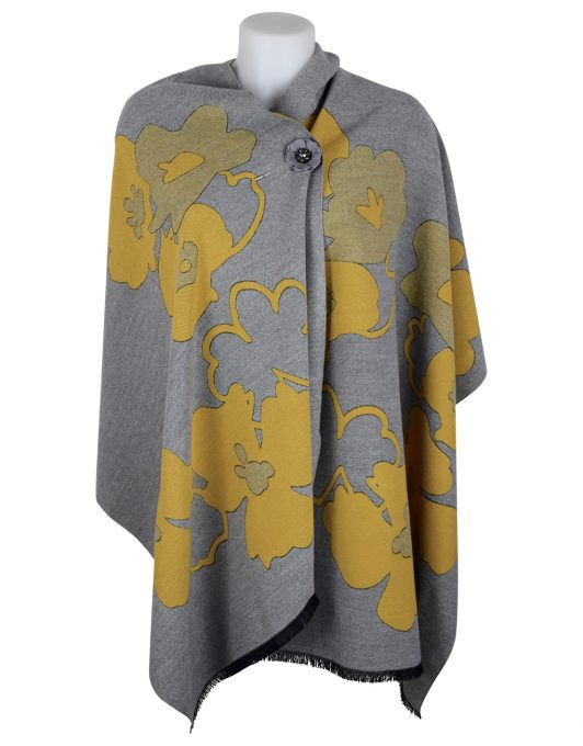 Cashmere Shawl Mustard Design