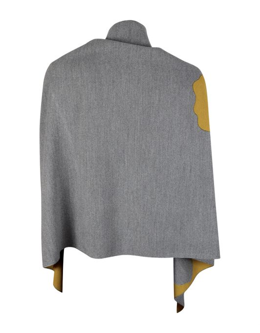 Shawl Grey Yellow Back