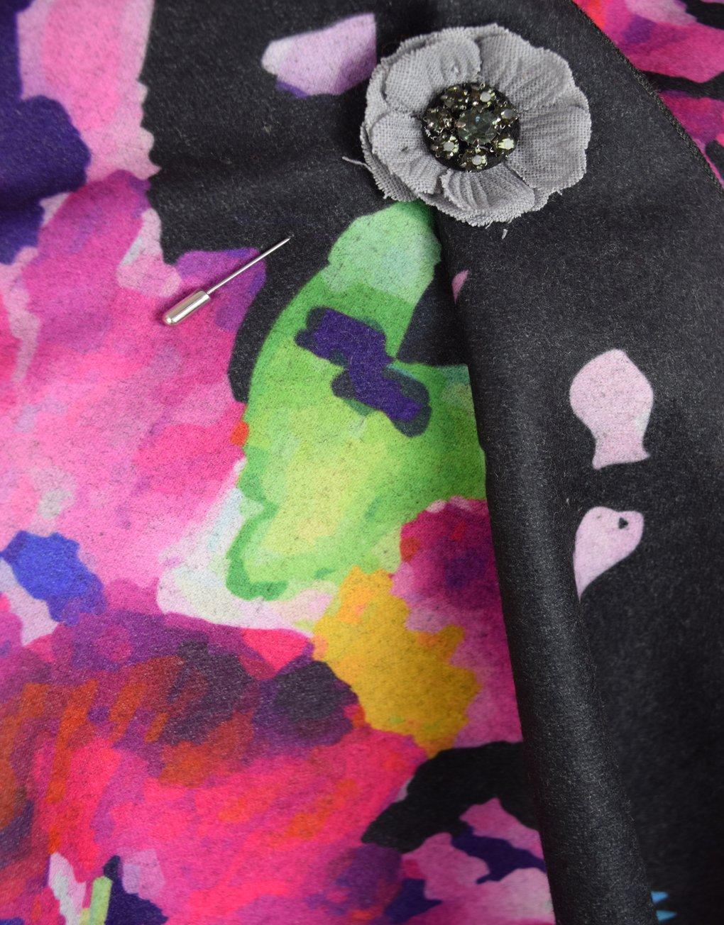 Shawl black fabric