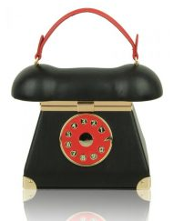 telephone bag black