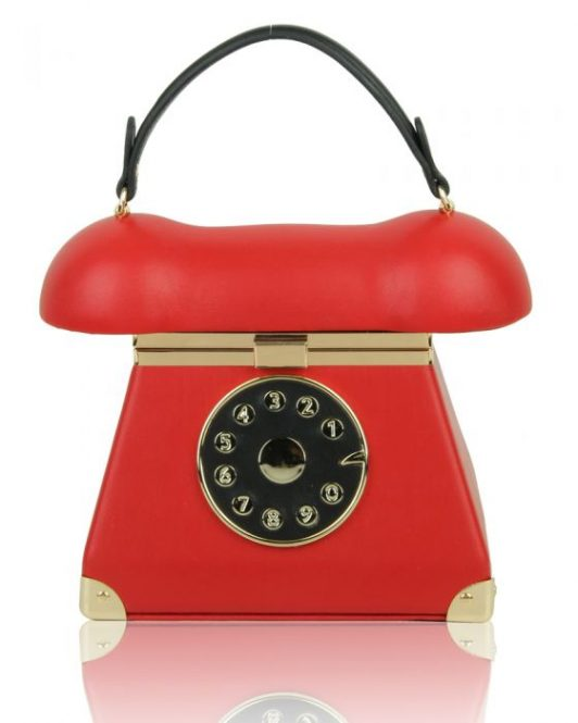 telephone bag red