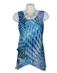 Paramour Reversible 2 in 1 Sleeveless Top Turquoise