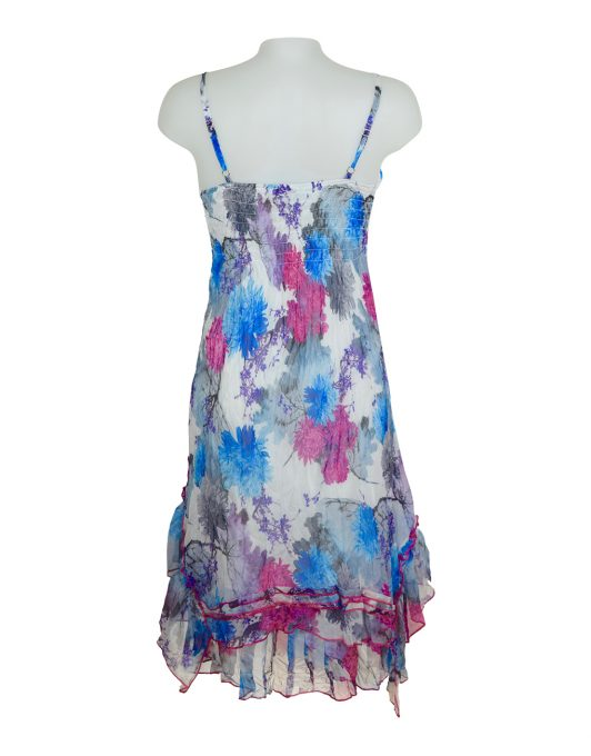 Sensations Pour Elle Blue & Pink Dress One Size2