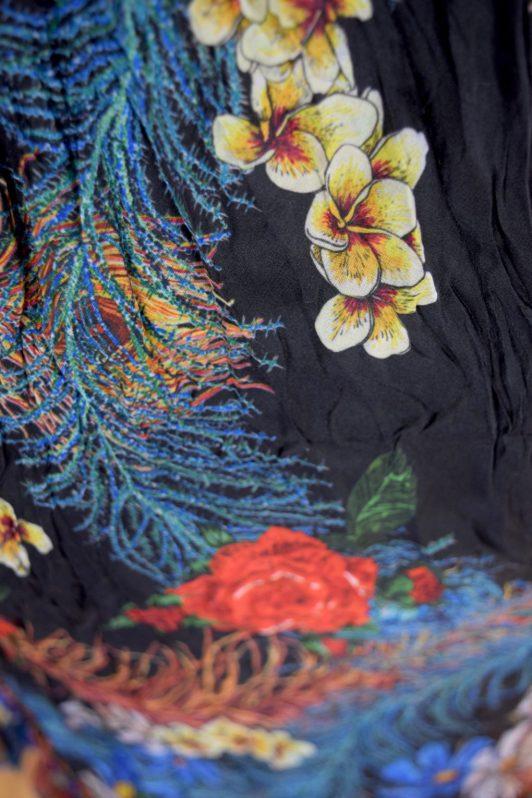 Sensations Pour Elle Blue & Purple Midi Dress One Size