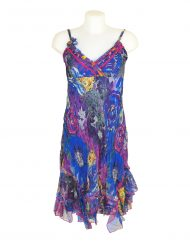 Sensations Pour Elle Blue & Purple Midi Dress One Size