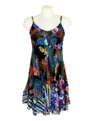 Sensations Pour Elle Black Floral Dress One Size