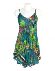 Sensations Pour Elle Green Floral Dress One Size