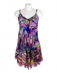 Sensations Pour Elle Blue & Pink Dress One Size