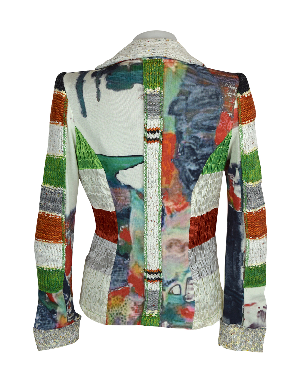 Lulu H Orange & Green French Style Jacket1