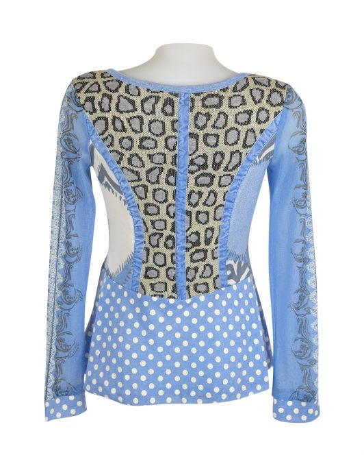 Lulu H Light Blue Button Top2