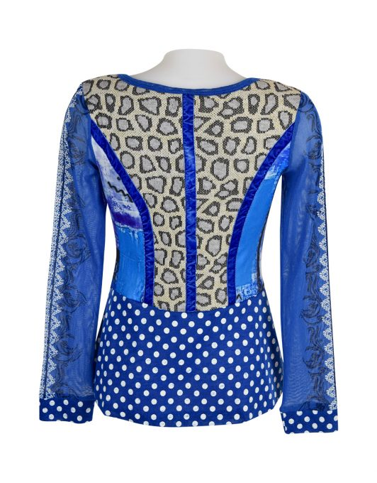 Lulu H Blue Button Top2