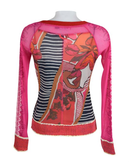 Lulu H Pink Zipped Top2