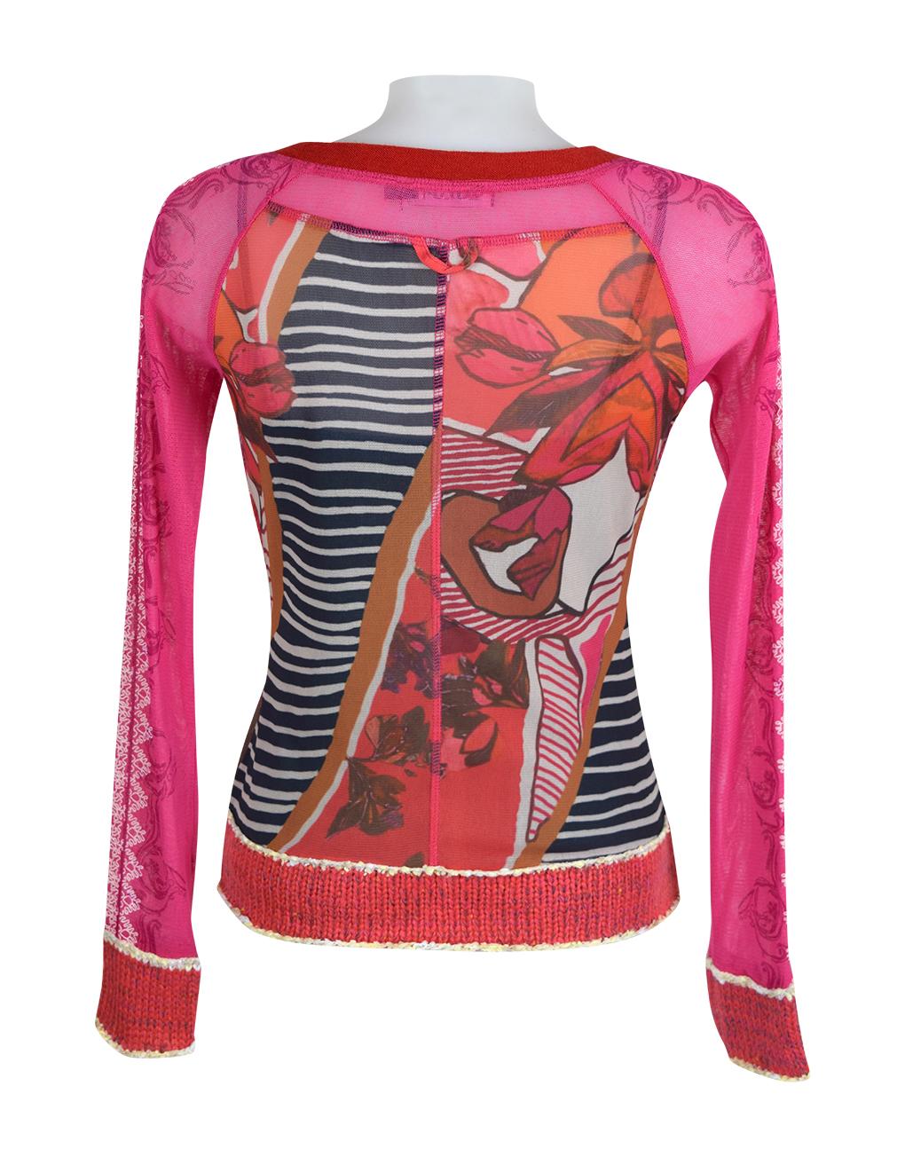 Lulu H Pink Zipped Top2