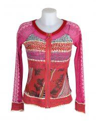 Lulu H Pink Zipped Top1